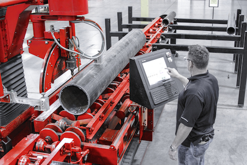 Cmsms Site Mpm Pipe Cutting Machine An Industrial